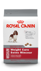 Royal Canin Adult Medium Dog Food Weight Care Formula Packaging
