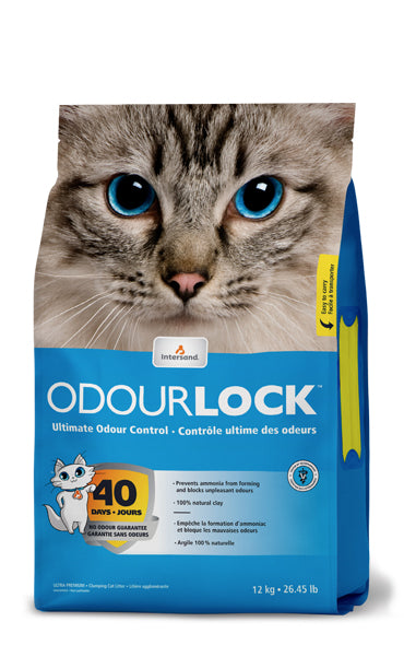 Intersand Ultra Premium Cat Litter | OdourLock Unscented Clumping Formula | 12 kg Bag