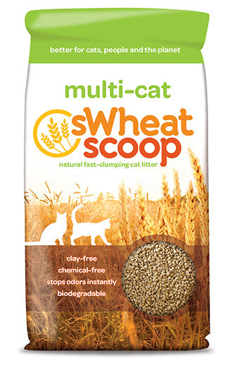 Swheat Scoop Natural Clumping Cat Litter | Multi-Cat Formula