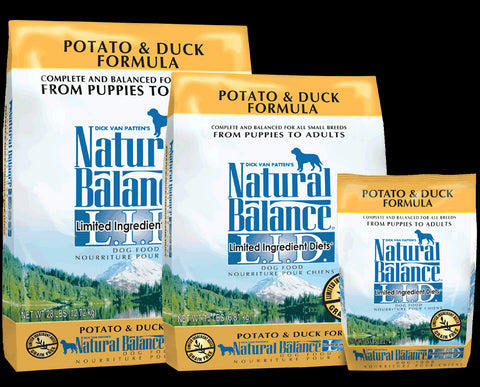 Natural Balance Limited Ingredient Diet Potato & Duck Dog Food packaging