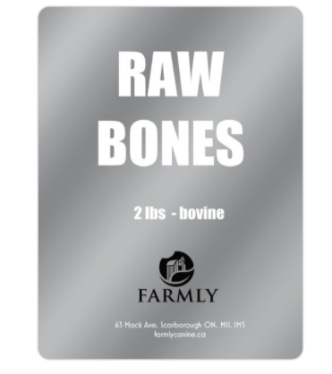 Farmly Raw Bovine Bones | 2 lbs