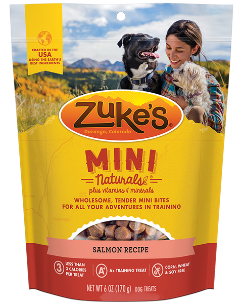 Zuke's Natural Dog Treats | Mini Naturals Training Treats | Salmon Recipe | 170g Pouch