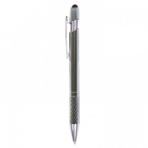 Arc Diamond Grip Metal Pen with Stylus - Promotional Products