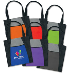 Eden Two-Tone Tote Bag with Pocket - Promotional Products