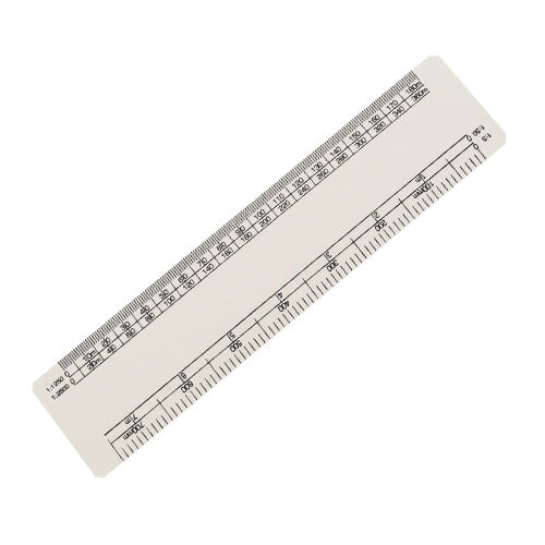 15cm Oval Scale Ruler