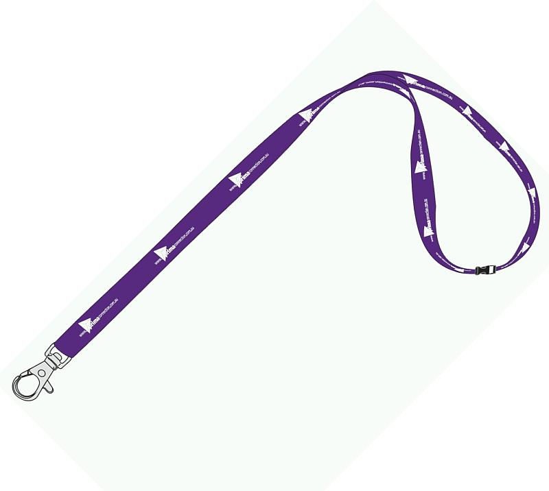 25mm Standard Logo Lanyard with 1 Safety Breakaway - Promotional Products