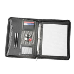 Avalon A4 Inner Stripe Compendium with Removable 3 Ring Binder - Promotional Products