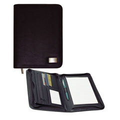 Avalon Full Zip A5 Leather Look Compendium - Promotional Products