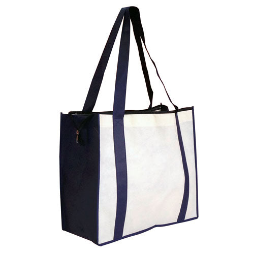 A Large Zippered Non Woven Tote Bag