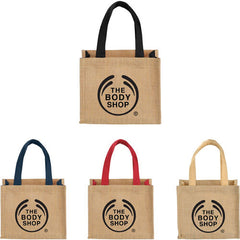 Arrow Mini Jute Carry Bag - Promotional Products