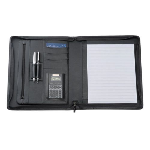 Avalon A4 Leather Compendium with Calculator - Promotional Products