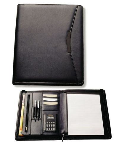 Avalon A4 Leather Look Compendium with Calculator