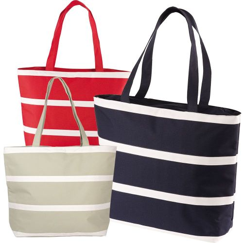 Avalon Stripe Insulated Tote Bag - Promotional Products