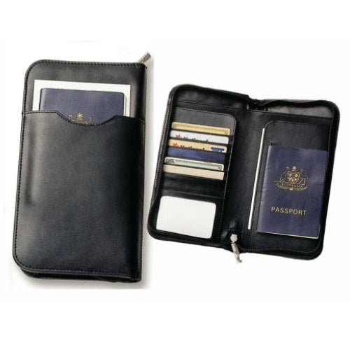 Avalon Leather Travel Wallet - Promotional Products