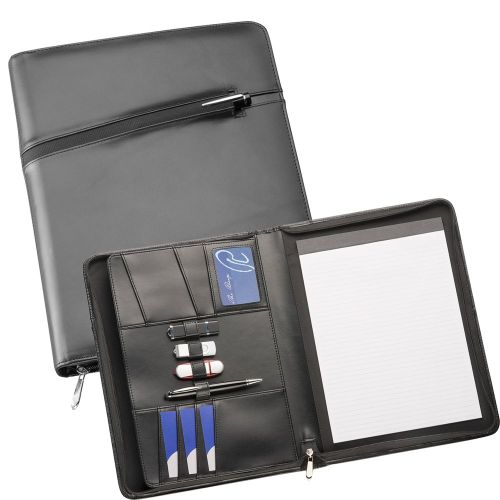 Avalon Premium A4 Leather Compendium - Promotional Products