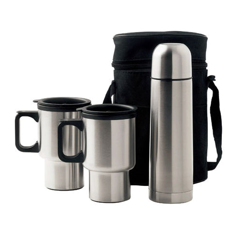 Oxford Travel Mug and Flask Set - Promotional Products