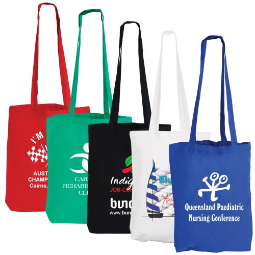 Bleep Coloured Cotton Double Long Handle Conference Tote - Promotional Products