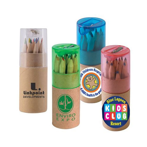 Bleep Coloured Pencils in Cardboard Tubes - Promotional Products