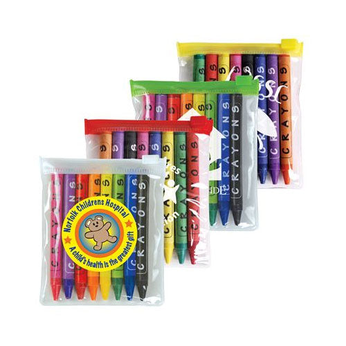 Bleep Crayons in Zip Pouch - Promotional Products