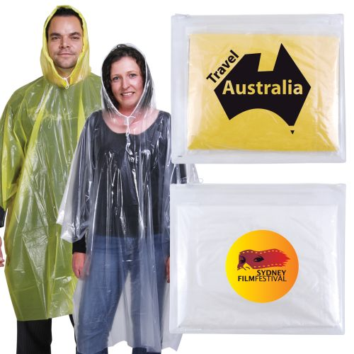 Bleep Poncho in Pouch - Promotional Products
