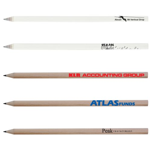 Bleep Round Full Length Sharpened Pencil - Promotional Products