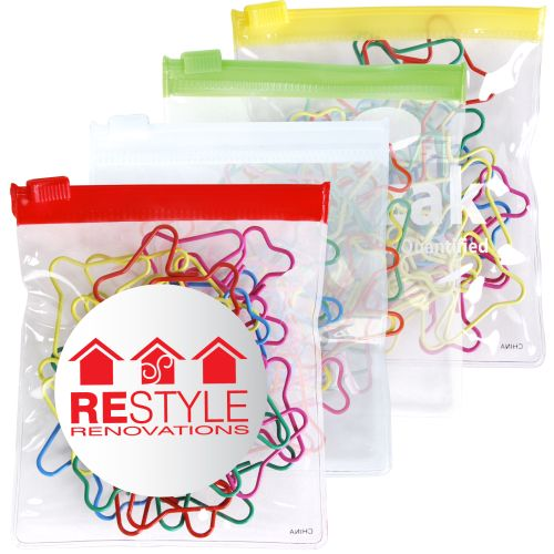 Bleep Shaped Paperclips in PVC Zippered Bag - Promotional Products