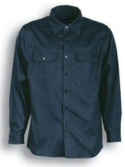 San Cotton Drill Long Sleeve Work Shirt - Corporate Clothing