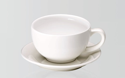 Cafe Cappuccino Cup & Saucer