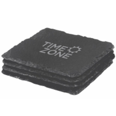 Classic Hand Made Slate Coaster Set - Promotional Products