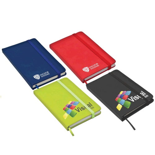 Classic Pocket Size Notepad with Elastic Closure