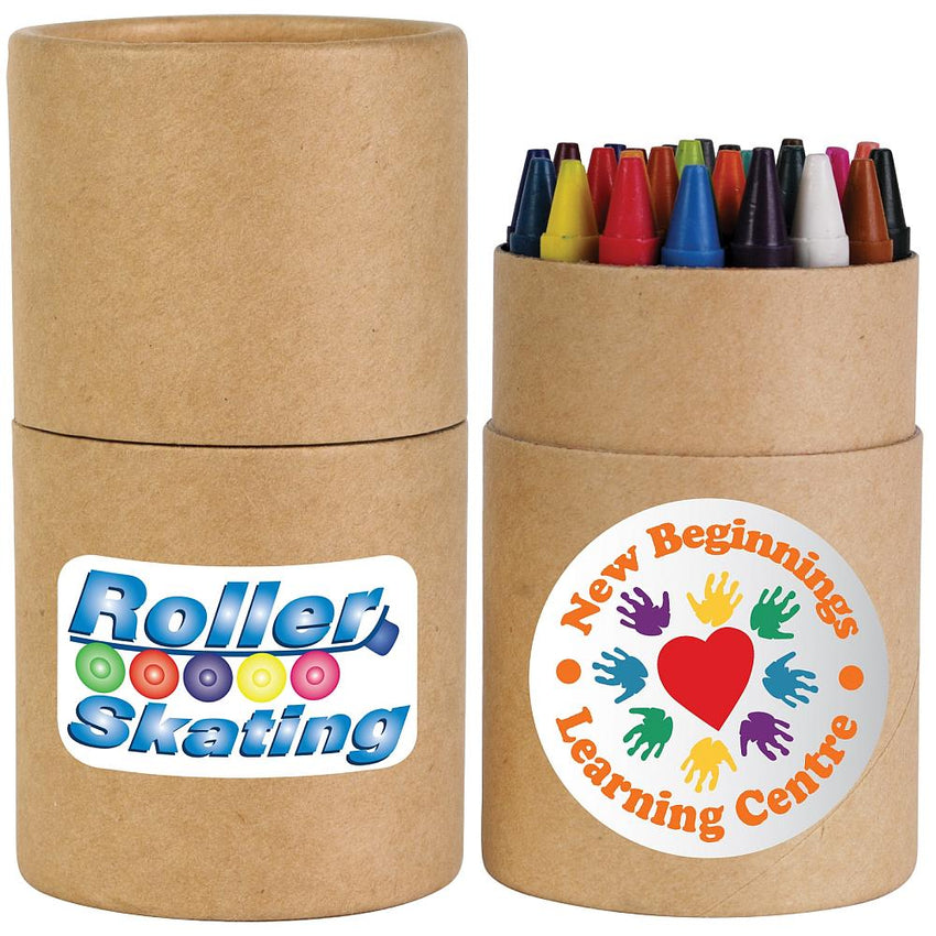 Bleep Crayons in Cardboard Tube - Promotional Products