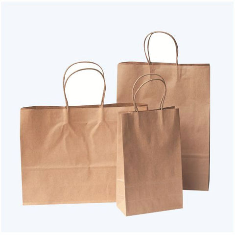 Crete Brown Paper Bag With Twisted Handles - Promotional Products