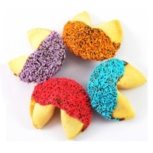 Devine Chocolate Dipped Fortune Cookies - Promotional Products