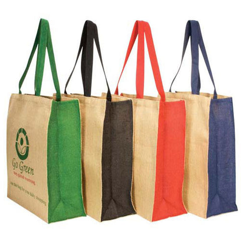 Dezine Jute Bag with Contrast Panel - Promotional Products