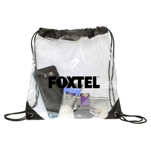Econo Clear Backsack - Promotional Products
