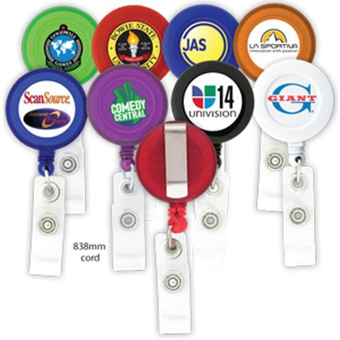 Econo Round Retractable Pull Reel - Promotional Products