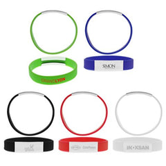 Econo Silicone Wristband with Brand Plate - Promotional Products