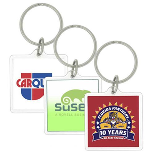 Econo Square Acrylic Keyring - Promotional Products
