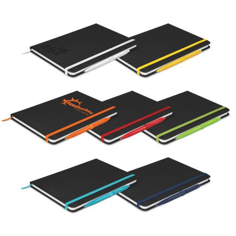 Eden A5 Black Notebook with Pen - Promotional Products