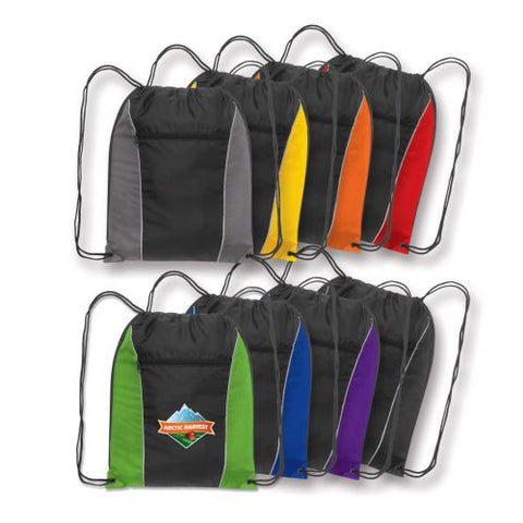 Eden Backsack with Zippered Pocket - Promotional Products