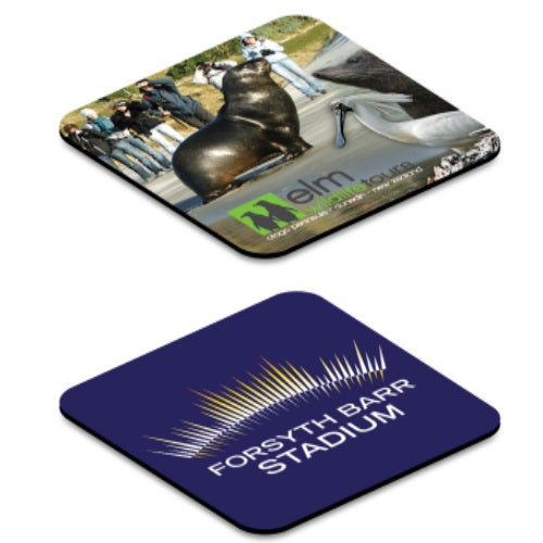 Eden Fabric Coaster With Anti-slip Rubber Backing - Promotional Products
