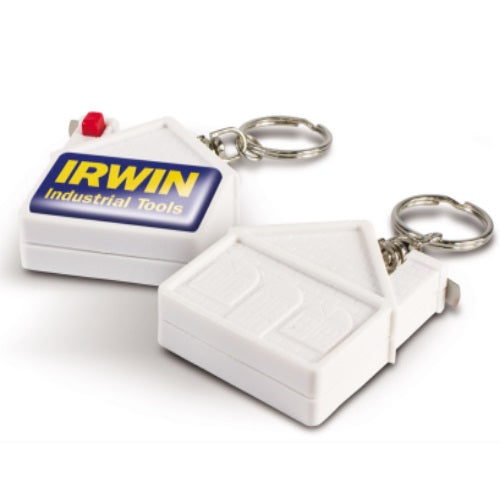Eden House Shaped Tape Measure Keyring - Promotional Products