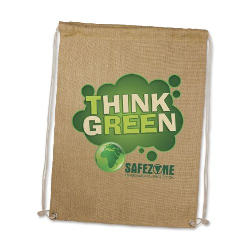 Eden Jute Drawstring Backsack - Promotional Products