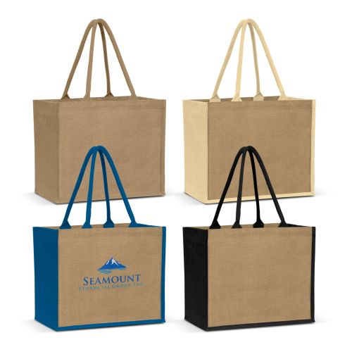 Eden Large Gusset Jute Carry Bag - Promotional Products
