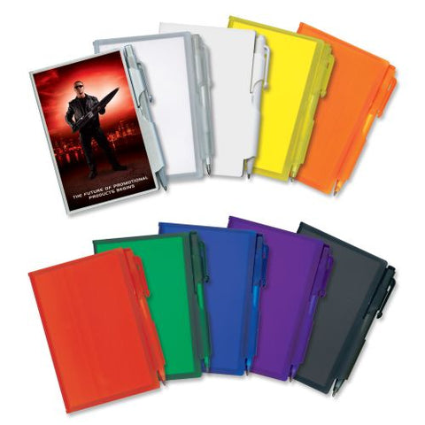 Eden Plastic Pocket Notebook with Pen - Promotional Products