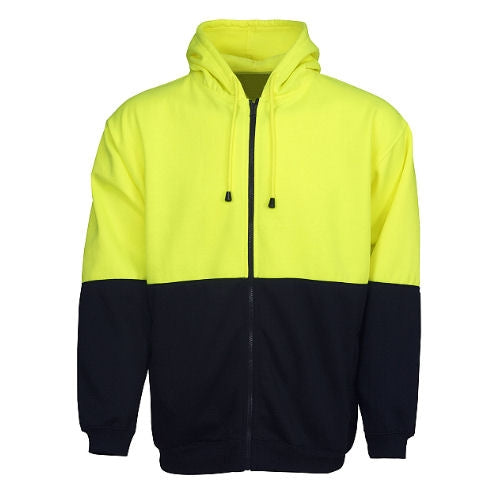 Hi Vis Fleece Hoodie with Zip - Day Use - Corporate Clothing