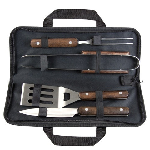 Dezine Premium Wooden Handle BBQ Set - Promotional Products