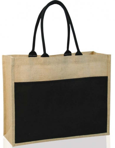 Dezine Contrast Eco Jute Bag - Promotional Products