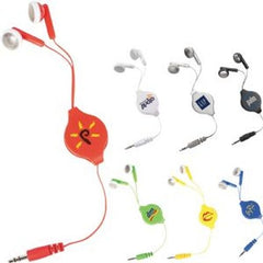 Arrow Retractable Earphones - Promotional Products