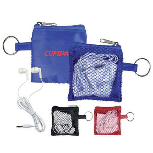 Headphones in a Pouch - Promotional Products